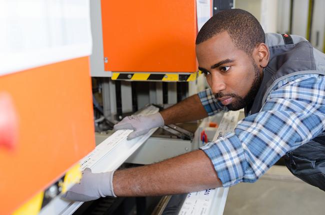 Afro Man Working